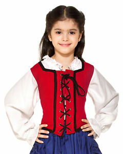 Girl  Reversible Pirate Bodice, finest fabric, handmade one by one,very nice!!