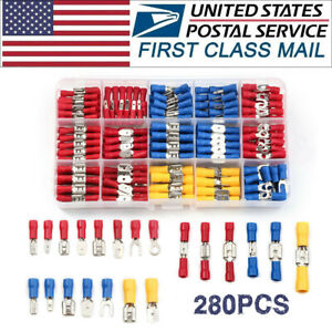 280pcs Assorted Insulated Electrical Wire Cable Terminal Crimp Connector Set Kit