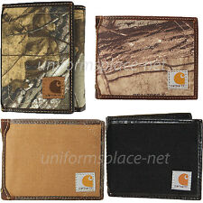 Carhartt Wallet Mens Passcase Bifold Trifold Canvas/Leather Wallets Camo, Colors