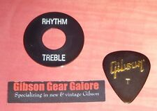 Gibson Les Paul Switch Washer Relic Toggle Poker Ring Black Guitar Parts Custom