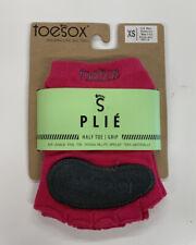 ToeSox Women's Plie Half Toe Grip Socks for Yoga, Pilates etc, X-Small, NWT