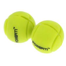 2Pcs Lightweight Tennis Ball Racket Vibration Shock Absorber Dampener Yellow