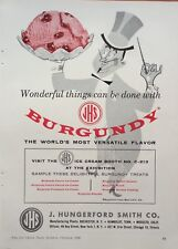 1960 AD(H2)~JHS CO. ROCHESTER, NY. BURGUNDY ICE CREAM FLAVOR