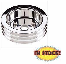 Billet Crankshaft Pulley - BB Chevy - 3 Groove (Short Water Pump) 83320