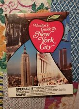 Visitors Guide to New York City 1976 with 8 postcards and maps 32 pages