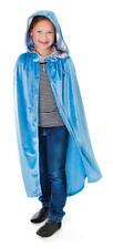 Velluto Blu Per Bambini Con Cappuccio Mantello Halloween Fancy Dress bambini bambino 88cm