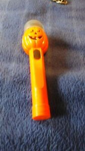Small Orange Plastic Pumpkin torch