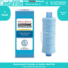 1 pk of Listerine  Ultraclean mint floss professional refill spool, 90 yds