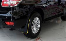 4pcs Black Splash Guard Mud Flaps Cover Trim For Nissan Patrol Y62 6th Gen 10-18