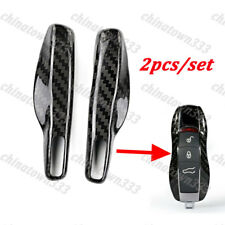 Remote Key Carbon Fiber Shell Cover Trim For Porsche Cayenne Panamera Macan 911
