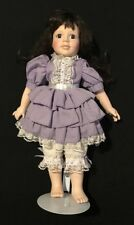 Porcelain Victorian Collector Doll on Stand