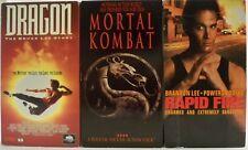 DRAGON: THE BRUCE LEE STORY, MORTAL COMBAT & RAPID FIRE VHS HI-FI MOVIES - 3 PK