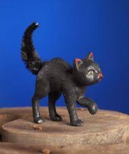 Bethany Lowe Scaredy Black Cat Halloween Figure Chenille Tail TD6035