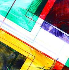 ShawNshawN Original Painting - Abstract geometric red blue yellow green