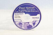 Print Server 10/100  Parallel Printer Disc Only Item Driver PC Trendnet Ver1.2