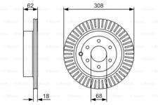 2x Bremsscheibe für Bremsanlage Hinterachse BOSCH 0 986 479 533