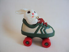Vintage 1984 Hallmark Roller Skatin Rabbit Christmas Ornament In Box