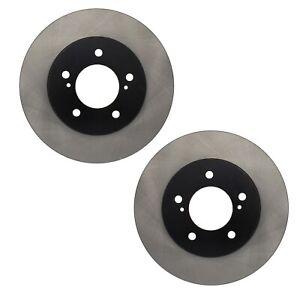 Pair Set of 2 Front C-Tek Brake Disc Rotors For Mercury Villager Nissan Quest