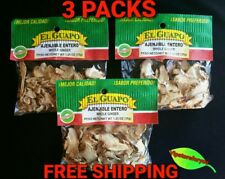 3 Pack El Guapo AJENJIBLE ENTERO 1.25oz each- 35g c/u Whole Ginger FREE SHIPPING
