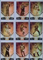 2019-20 Panini Certified Basketball Gold Team Singles - Pick Your Players