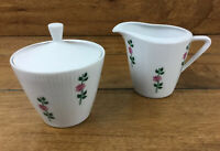Seltmann Weiden Bavaria Monika Pink Roses Creamer And Sugar