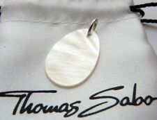 New Genuine Authentic THOMAS SABO Sweet Diamond MOP Teardrop Pendant - Large
