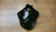 Black Goggle & Mask for Open Face Motorcycle Helmet visor shield guard goggles