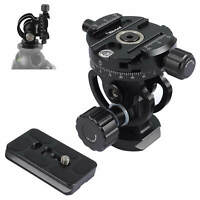 2D Panoramic Panorama Ball Head+Quick Release Plate fr Camera Tripod Monopod-NEW