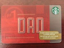 HTF Starbucks No. 1 DAD Gift Card Never Swiped NO $ VALUE