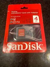SanDisk SD 4GB Class 4 - MicroSDHC Card - SDSDQ-4096-A11M