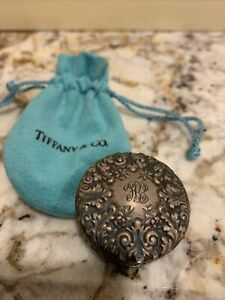 Tiffany & Co. sterling silver monogrammed pill box case Italy rare vintage 925