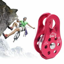 20KN Pulley Outdoor Climbing Rappelling Gear Camping Survival Single Pulley