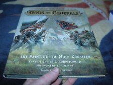 Gods & Generals The Paintings Of Mort Kunstler  HC DJ 2002 Civil War
