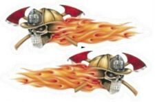 Aufkleber Set Feuerwehr Totenkopf Flammen Fire Department Skulls Helm Airbrush