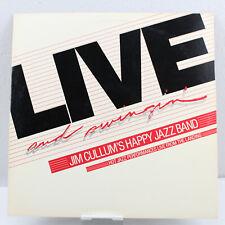Live and Swingin' Jim Cullum's Happy Jazz Band LP VG+ AJ-127