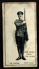 Tobacco Card, Imperial Canada, INFANTRY TRAINING, 1915, By Numbers Order Arms,#7