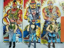 K169497 DREADNOKS SET OF 3 W/ CARDS 100% COMPLETE GI JOE RIPPER TORCH BUZZER