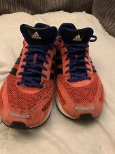 Adidas Para Hombre adiZero Adios Naranja Azul Marino Correr Zapatillas Size UK 11