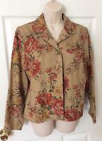 Talbots Petites Sz PS Petite Small Floral Jacket Blazer Coat Long Sleeves Casual