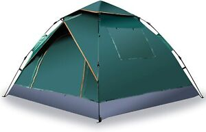 Zone Tech Outdoor Family Camping 3-4 Person Instant Pop Up Tent with Windows