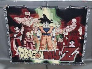 Vtg 2000 Dragon Ball Z Rare Woven Throw Blanket The Northwest Company Goku