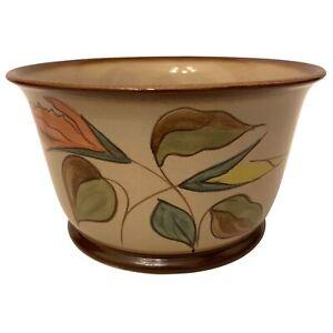"""Vintage Denby Stoneware Pottery Planter Plant Pot Jardiniere 8"""" Diameter"""
