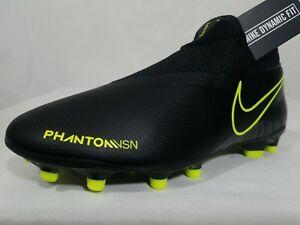 Nike Phantom Vision DF MG Soccer Cleats Size 7 Women's Black Volt AO3258-007