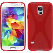 Coque en Silicone Samsung Galaxy S5 mini - X-Style rouge + films de protection