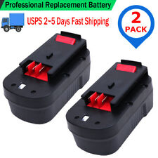 2x 18V 2000mAh NiCd 18 VOLT Battery for Black & Decker HPB18 HPB18-OPE 244760-00