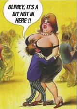 Bamforth Saucy Postcard BLIMEY, ITS HOT IN HERE!! C-42189 Seaside, Dance, Boobs