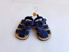 NEW Infant Boys CARTERS Navy Blue Crib Shoes Sandals Size NEWBORN nb nwt