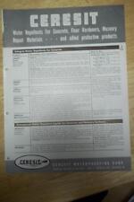 Ceresit Waterproofing Corp Brochure~Asbestos~Fibrated Roof Coating Catalog
