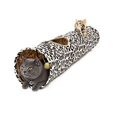 PAWZ Road Cat Tunnel Leopard Print Crinkly Cat Fun 2 Holes Long Tunnel Kitten...