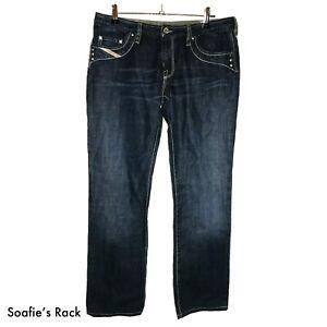 DIESEL INDUSTRY KYCUT Womens Blue Denim Jeans - Size 31 - Everyday